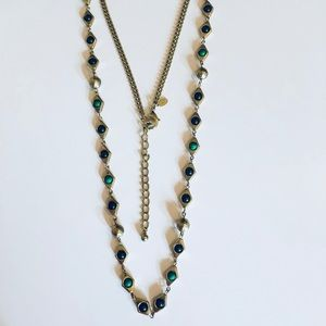 Chico's Multi Stone Single Strand Long Necklace